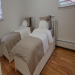 Twin size beds with  2 trundles